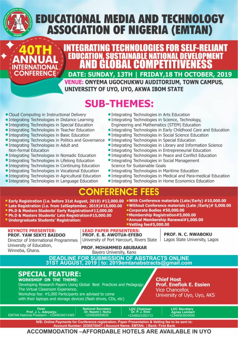 EMTAN 40th ANNUAL INTERNATIONAL CONFERENCE